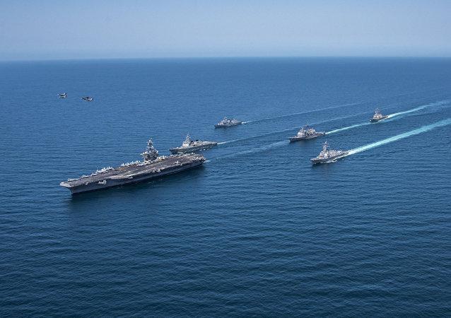 Grupo naval de EEUU y Corea del Sur (archivo)