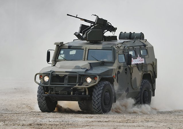 El vehículo blindado Tigr en el Foro Army 2017