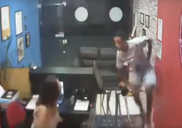 Intento de asalto en un gimnasio
