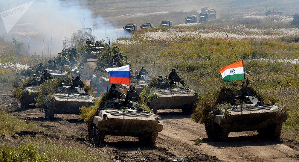 Las maniobras ruso-indias Indra (archivo)