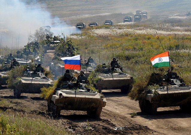 Las maniobras ruso-indias Indra 2016 (archivo)
