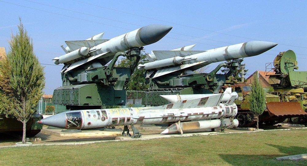 Los misiles del sistema soviético S-200, o SA-5 Gammon, en un museo (imagen referencial)