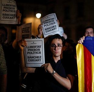 La petición de liberar Jordi Cuixart y Jordi Sànchez acusados de sedición (archivo)