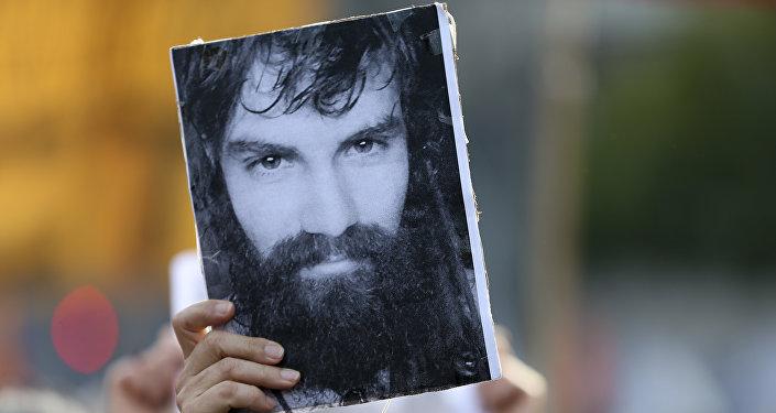 Fotografía del activista argentino Santiago Maldonado