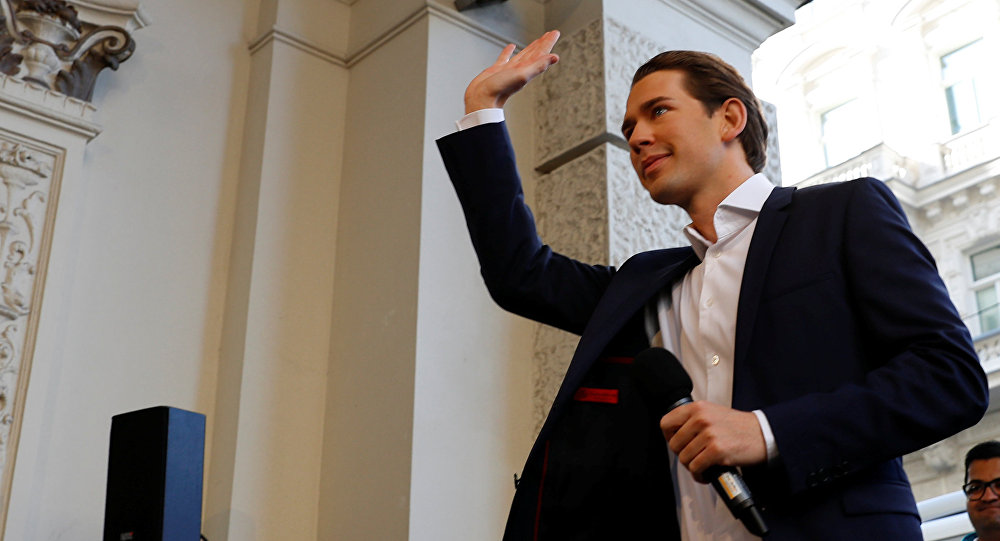 Sebastian Kurz, ministro de Exteriores de Austria