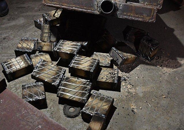 Materiales para la producción de los exposivos en Siria