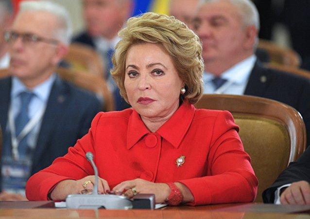 Valentina Matvienko, presidenta del Consejo de la Federación de Rusia (Senado ruso)