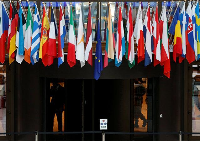 Las banderas de los países miembros de la UE