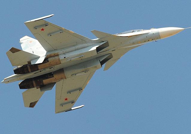 Un Su-30SM ruso (imagen referencial)