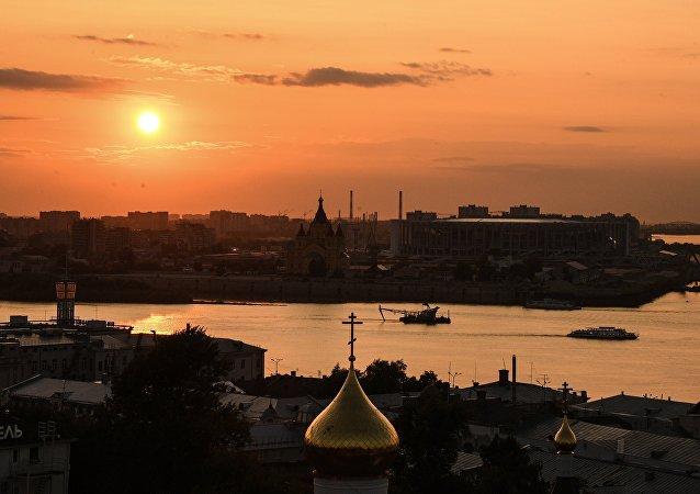 La ciudad rusa de Nizhni Novgorod