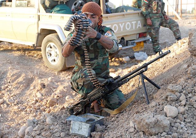 Los peshmerga en la ciudad de Kirkuk (archivo)