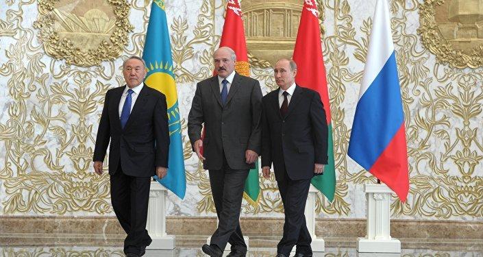 Líderes de los países miembros de la Unión Económica Euroasiática (UEE)