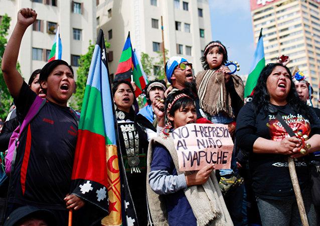 Mapuches en protestas
