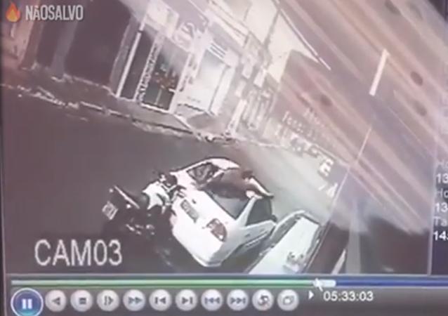 Insólito accidente de tráfico en Brasil