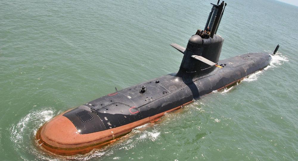 Un submarino indio de clase Kalvari