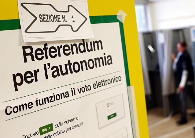 La votación del referéndum de autonomía de Lombardía