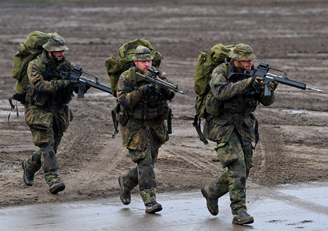 Soldados de la Bundeswehr durante unos ejercicios (archivo)