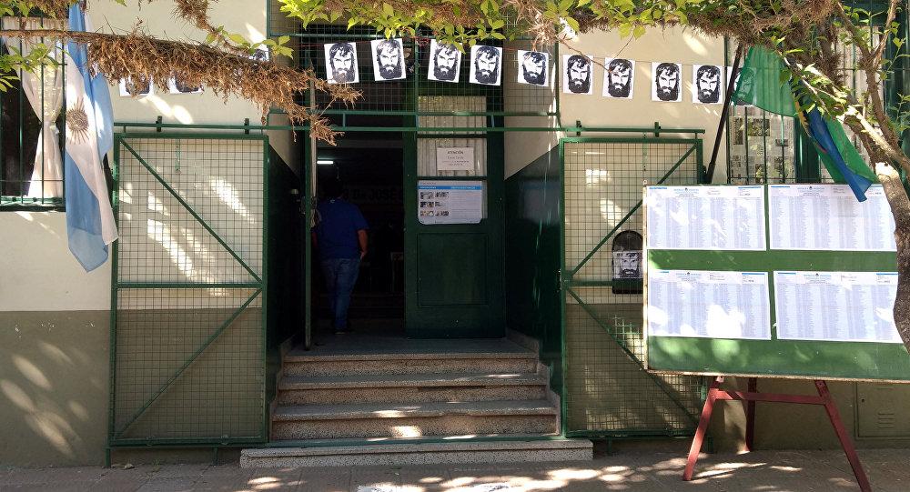 Colegio electoral en Argentina