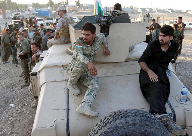 Los combatientes del peshmerga en el Kurdistán iraquí (archivo)