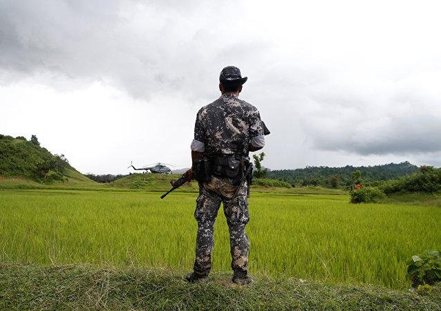 Un soldado de Birmania (archivo)