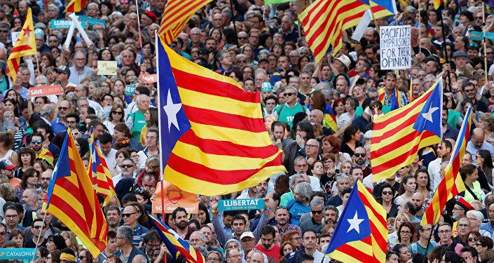 Las banderas de Cataluña