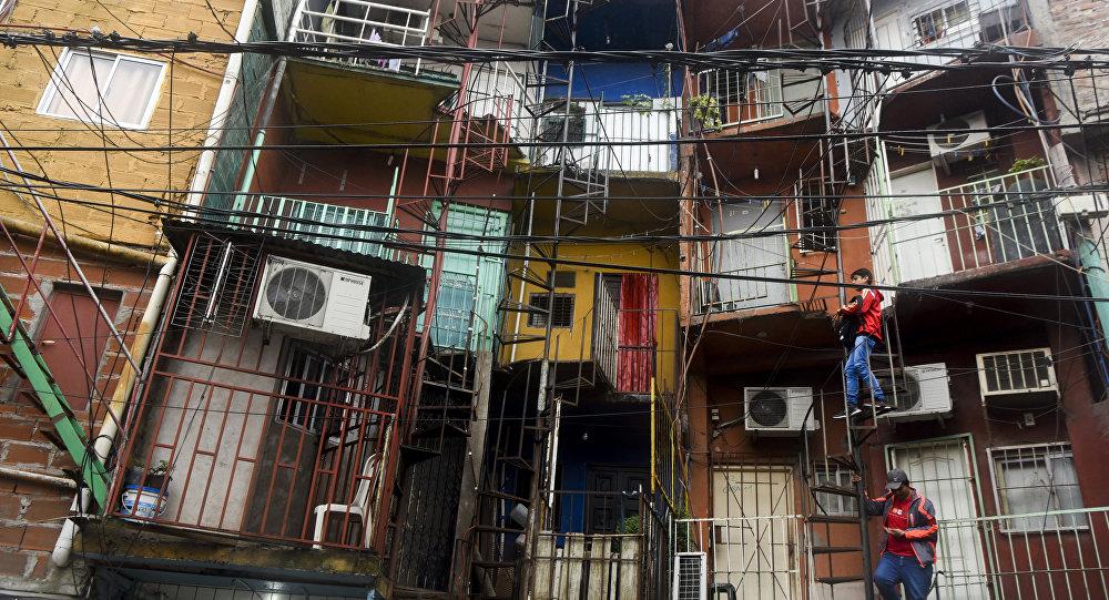Residencias en la Villa 31, barrio de Buenos Aires, Argentina