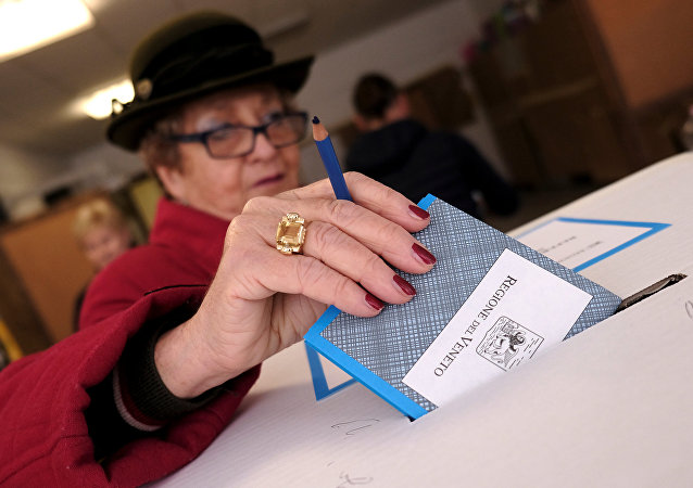 La votación en el referéndum de autonomía de Véneto