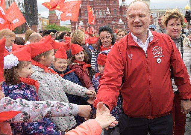 Guenadi Ziugánov, líder del Partido Comunista ruso