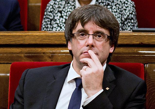 Carles Puigdemont, presidente cesado de Cataluña (archivo)