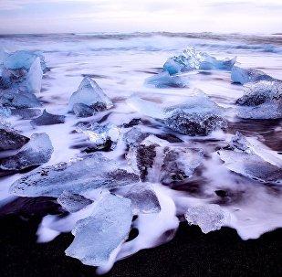 La superficie del mar congelada (imagen ilustrativa)