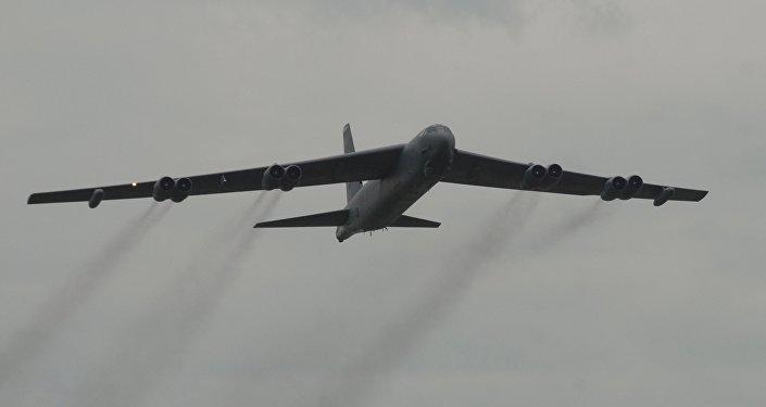 Un bombardero estadounidense B-52 (imagen referencial)