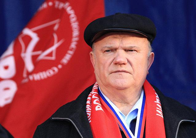 Guennadi Ziugánov, líder del Partido Comunista ruso