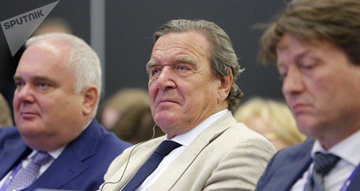 Gerhard Schröder, ex canciller alemán y presidente de la junta directiva de la petrolera estatal rusa Rosneft