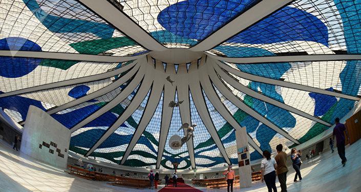 La Catedral de Brasilia, una de las obras emblemáticas de Oscar Niemeyer