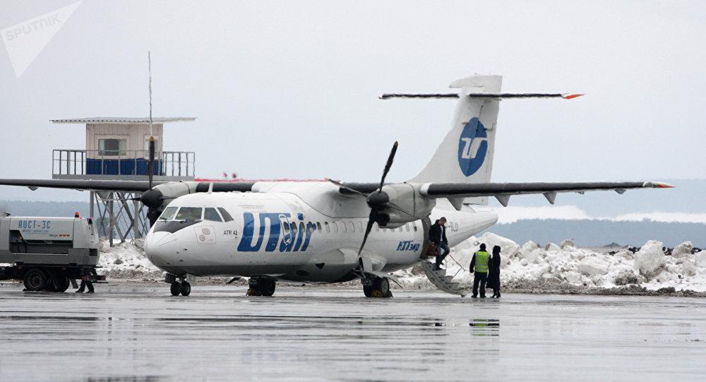 Un avión de la compañía aérea UTair