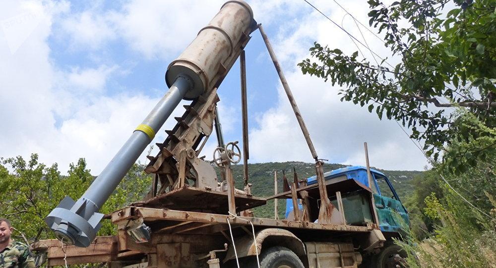 Uno de los sistemas de misiles descubierto por el Ejército sirio