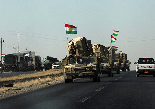 Los militares peshmerga en la región de Kirkuk