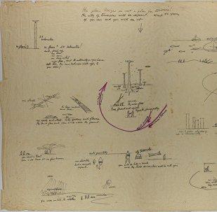 Croquis de la ciudad de mañana proyectada por Niemeyer en Rusia en 1963