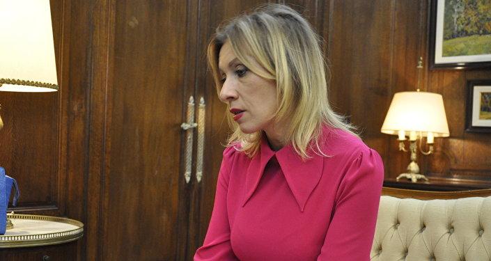 María Zajárova, portavoz oficial del ministerio de Asuntos Exteriores de Rusia