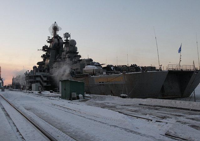 El crucero nuclear pesado Almirante Najimov