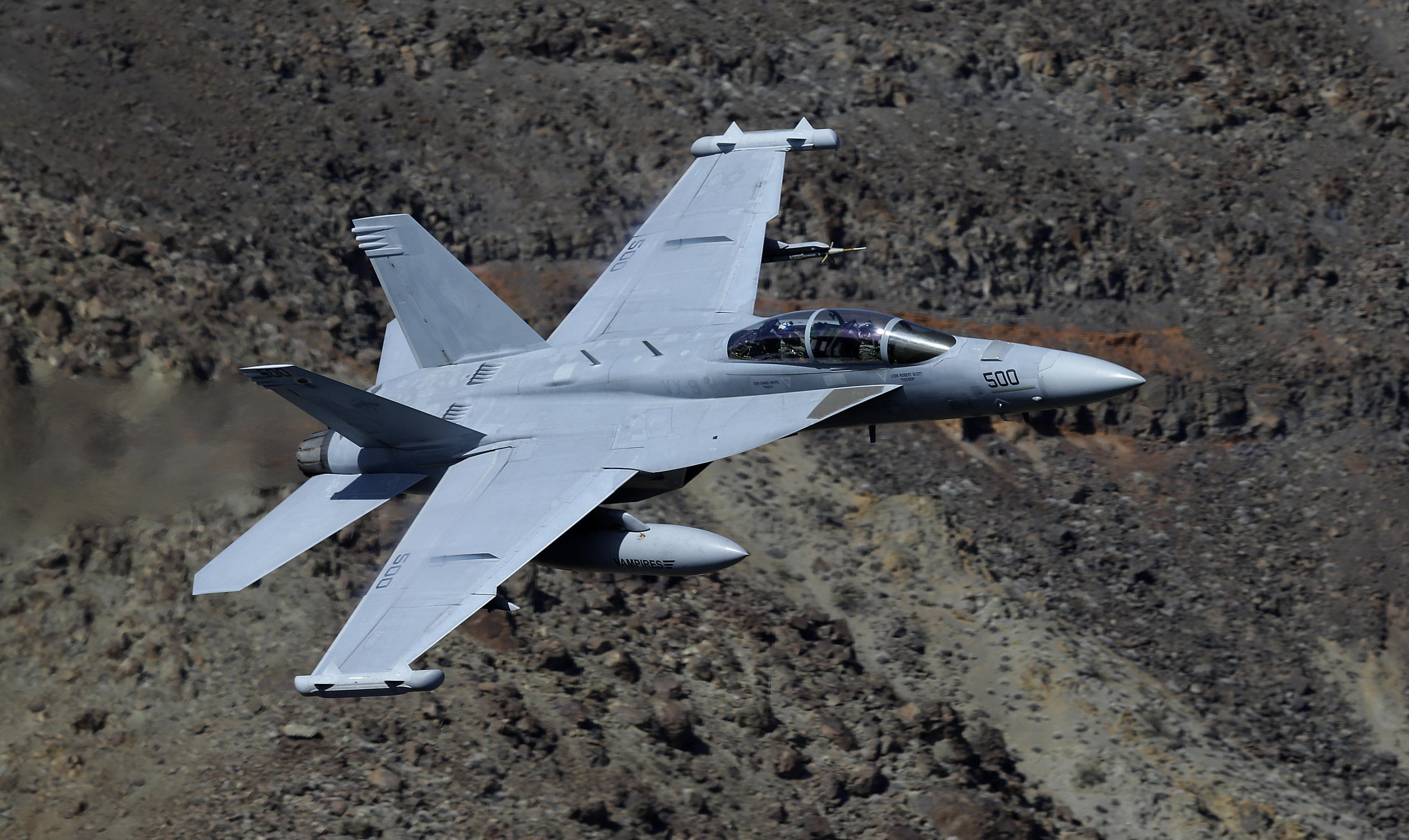 Un avión EA-18G Growler