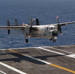 Un avión C-2A Greyhound (archivo)