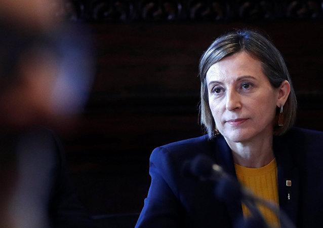 Carme Forcadell, la presidenta del Parlamento de Cataluña,