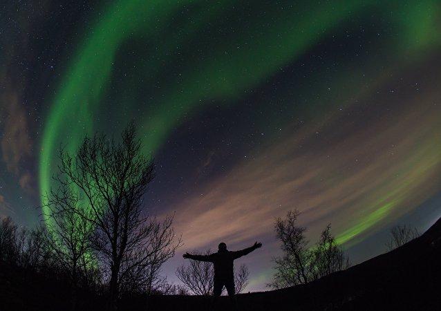 Aurora boreal en la región de Múrmansk