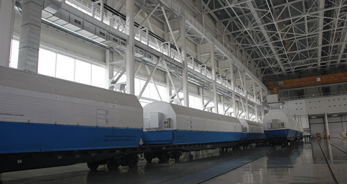 El transporte de los bloques del cohete Soyuz-2.1b al cosmódromo ruso Vostochni