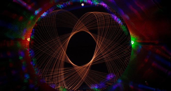 Un átomo de luz