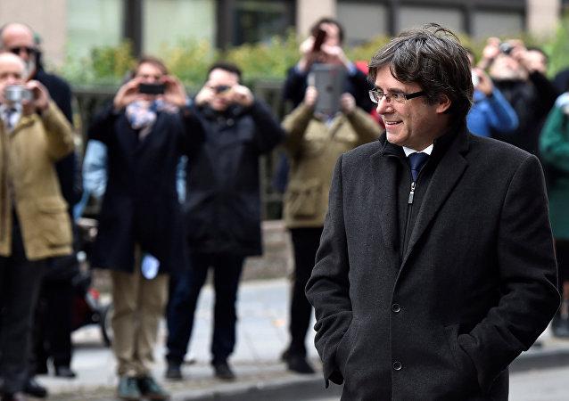 Expresidente del gobierno catalán, Carles Puigdemont, en Bruselas