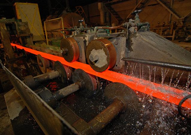 Una planta siderúrgica