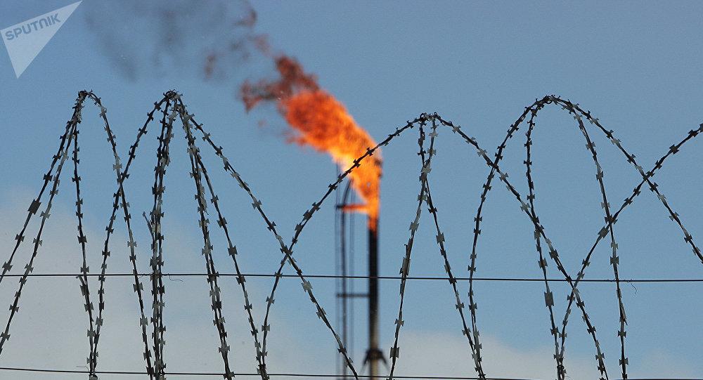Un depósito de gas en Crimea, Rusia