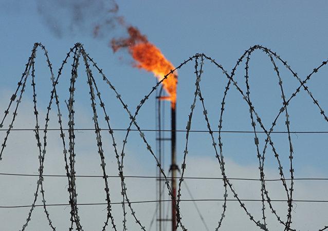 Un depósito de gas en Rusia